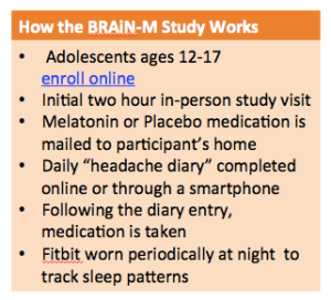 Teenage Migraine Study